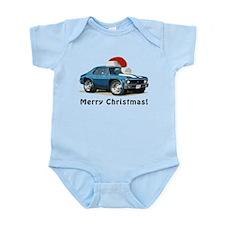 BabyAmericanMuscleCar_70NovA_Xmas_Blue Body Suit