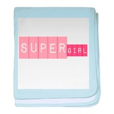 supergirl baby blanket