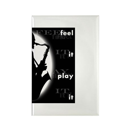 feel it play it Rectangle Magnet (10 pack)