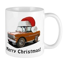 BabyAmericanMuscleCar_63NovA_Xmas_Orange Mugs