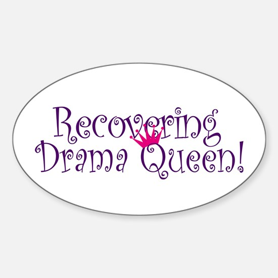 Recovering Queen Oval Decal