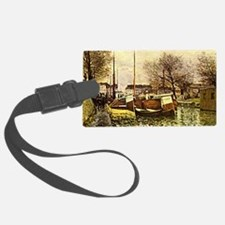 Sisley: Barges on the Canal, St. Luggage Tag