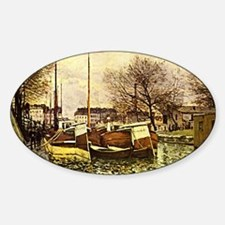 Sisley: Barges on the Canal, St. Ma Decal