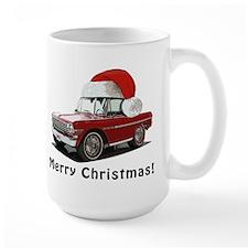 BabyAmericanMuscleCar_63NovA_Xmas_Red Mugs
