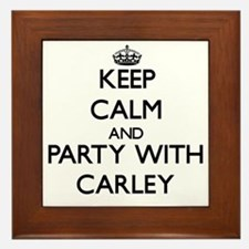 Keep Calm and Party with Carley Framed Tile