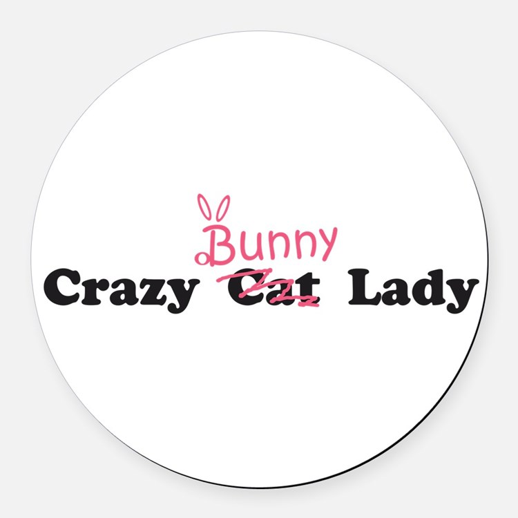 Cute Bunny Round Car Magnet