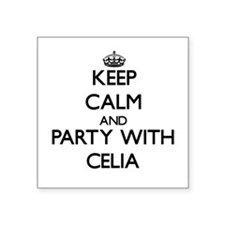 Keep Calm and Party with Celia Sticker