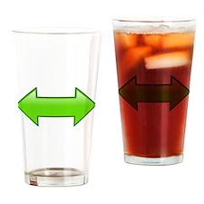 Green Arrows Drinking Glass