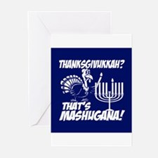 Thanksgivukkah Thats Mashugana Greeting Cards