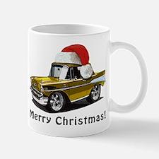 BabyAmericanMuscleCar_57BelR_Xmas_Gold Mugs