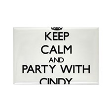 Keep Calm and Party with Cindy Magnets