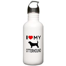 I Love My Otterhound Sports Water Bottle