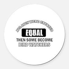 Bird Watchers Design Round Car Magnet