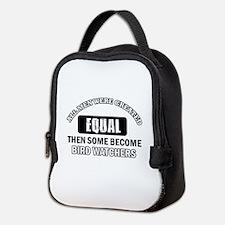Bird Watchers Design Neoprene Lunch Bag