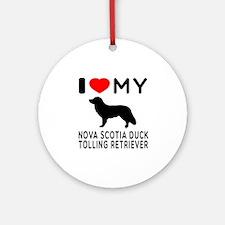 I Love My Nova Scotia Duck Tolling Retriever Ornam
