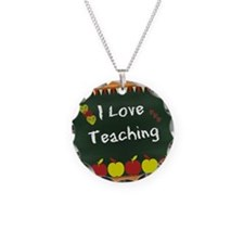 I Love Teaching - written on Necklace