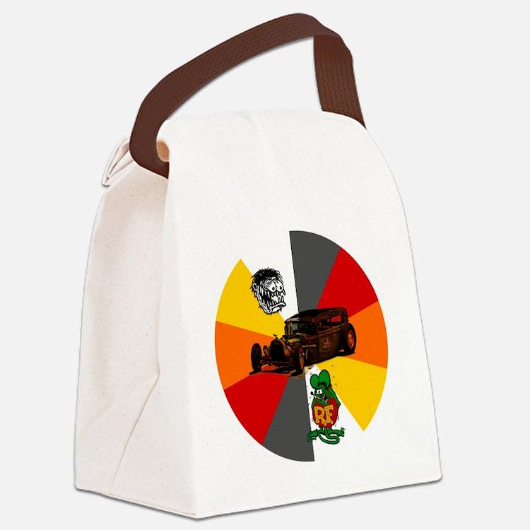 Rat Fink, Rat Rod Canvas Lunch Bag