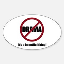 No Drama Oval Decal