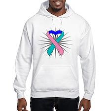 Thyroid Cancer Heart Ribbon Hoodie