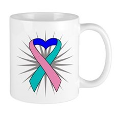 Thyroid Cancer Heart Ribbon Mug