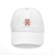 Uterine Cancer Heart Ribbon Baseball Cap