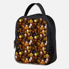 SteamCubism - Brass Neoprene Lunch Bag