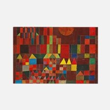 Klee Castle and Sun Rectangle Magnet