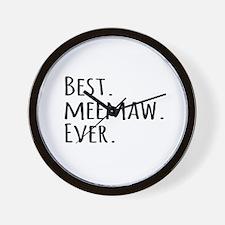 Best Meemaw Ever Wall Clock