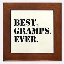 Best Gramps Ever Framed Tile