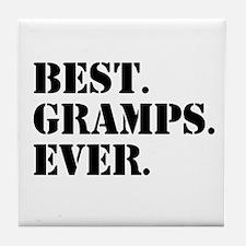 Best Gramps Ever Tile Coaster