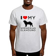 I Love My Norwegian Elkhound T-Shirt