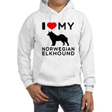 I Love My Norwegian Elkhound Hoodie
