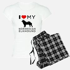 I Love My Norwegian Elkhound Pajamas
