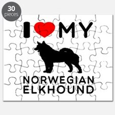 I Love My Norwegian Elkhound Puzzle