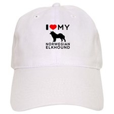 I Love My Norwegian Elkhound Baseball Cap