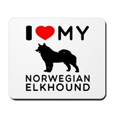 I Love My Norwegian Elkhound Mousepad