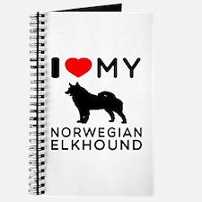 I Love My Norwegian Elkhound Journal