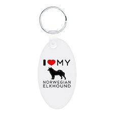 I Love My Norwegian Elkhound Keychains