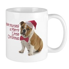 Santa Bulldog Mugs