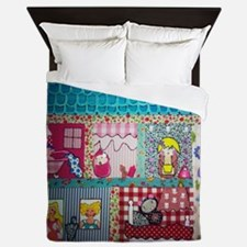 Dolls house Queen Duvet