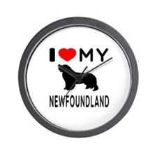 I Love My Newfoundland Wall Clock
