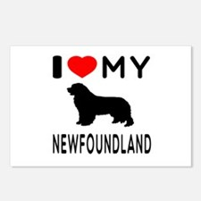 I Love My Newfoundland Postcards (Package of 8)