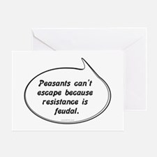 Peasant Pun Greeting Card