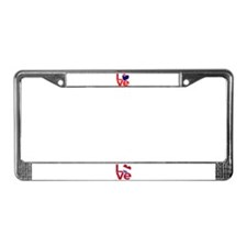New Zealander Red LOVE License Plate Frame