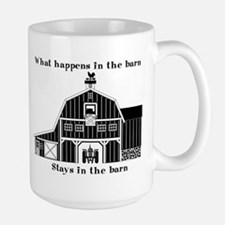 What happens in the barn Mug