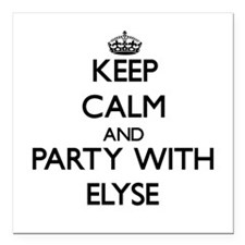 Keep Calm and Party with Elyse Square Car Magnet 3