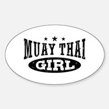Muay Thai Girl Sticker (Oval)