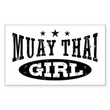 Muay Thai Girl Decal
