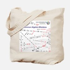 Common Algebra Mistakes Tote Bag