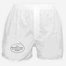 Math Teacher Pun Boxer Shorts